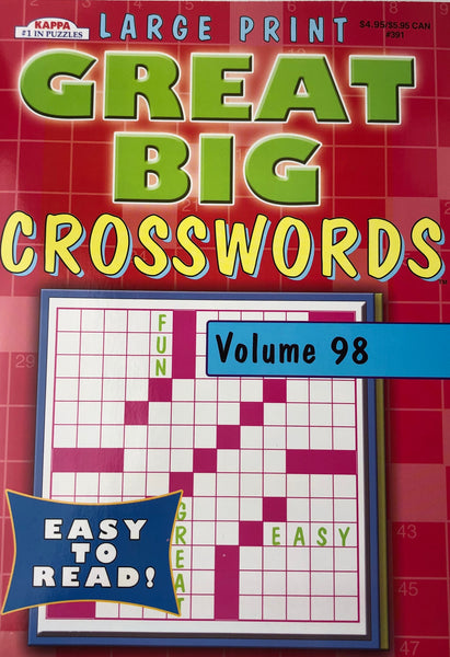 LARGE PRINT GREAT BIG CROSSWORD PUZZLE BOOK. VOLUME 98 - Unusual Finds Discount Store
