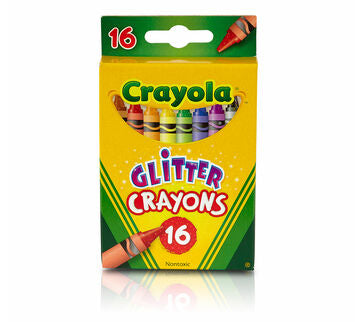 GLITTER CRAYONS CRAYOLA 16pk - Unusual Finds Discount Store