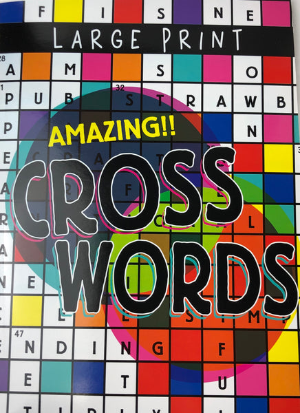 LARGE PRINT AMAZING CROSSWORD PUZZLE BOOK - Unusual Finds Discount Store