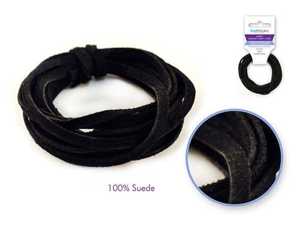 Jewelry Suede Craft Cord- Black - Unusual Finds Discount Store