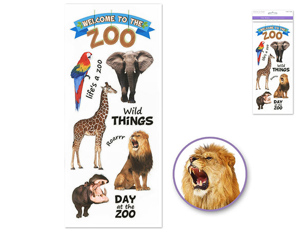 WELCOME TO THE ZOO CLEAR STICKERS - Unusual Finds Discount Store