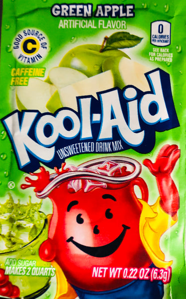 KOOL-AID GREEN APPLE SINGLE PACKET - Unusual Finds Discount Store