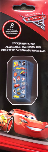 CARS DISNEY PIXAR STICKER PARTY PACK - Unusual Finds Discount Store