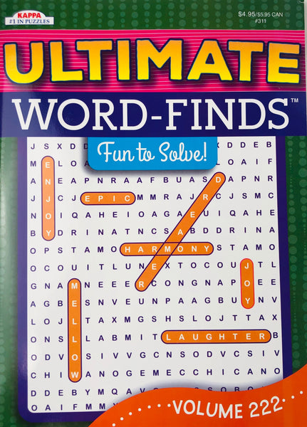 ULTIMATE WORD FIND PUZZLE BOOK - Unusual Finds Discount Store