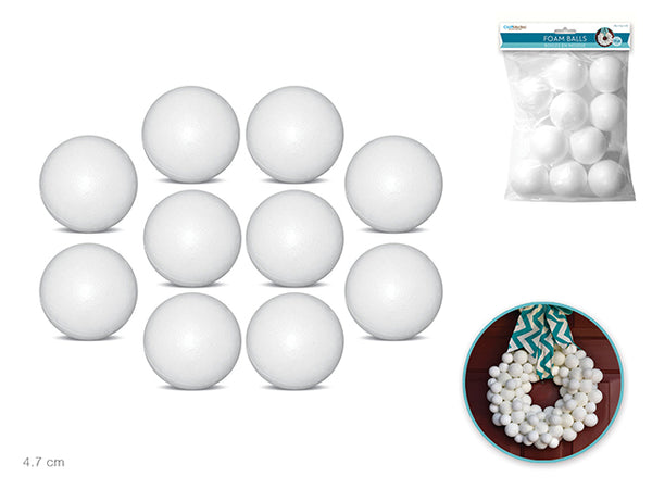 "FOAM BALLS 1.85"" 10pc - Unusual Finds Discount Store"