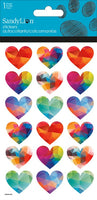 RAINBOW HEART STICKERS - Unusual Finds Discount Store