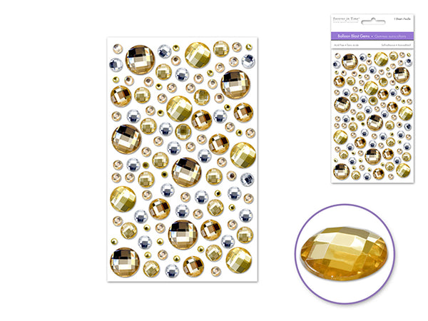 BALLOON BLAST GEMS GOLDEN GOLD 3D SELF-adhesive - Unusual Finds Discount Store