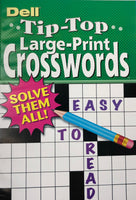 DELL TIP TOP LARGE PRINT CROSSWORD PUZZLE BOOK - Unusual Finds Discount Store