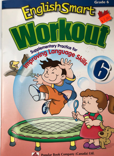 ENGLISH SMART WORKOUT WORKBOOK GRADE 6 - Unusual Finds Discount Store