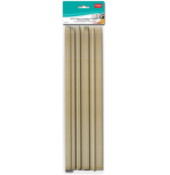 BAMBOO SKEWERS WOOD 100 PCS - Unusual Finds Discount Store