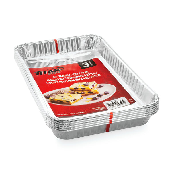 RECTANGULAR ALUMINUM CAKE PANS 3pk - Unusual Finds Discount Store