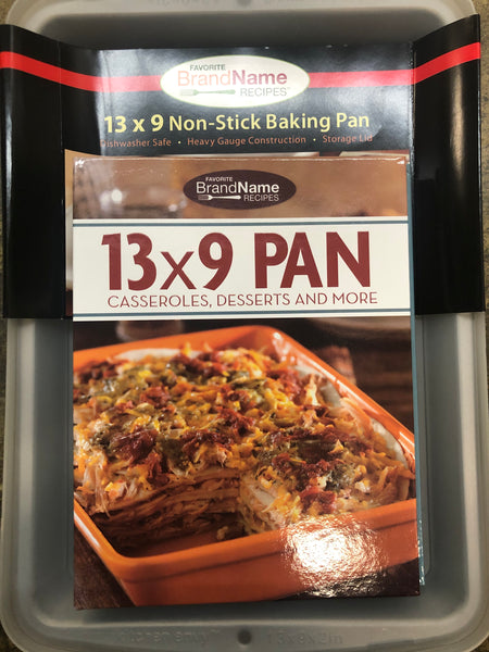 "13x9"" BAKING PAN WITH LID & RECIPE BOOK SET - Unusual Finds Discount Store"