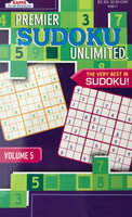 PREMIER SUDOKU UNLIMITED PUZZLE BOOK. VOL 5 - Unusual Finds Discount Store