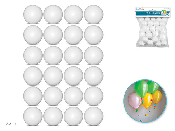 "FOAM BALLS 0.9"" 24pcs - Unusual Finds Discount Store"