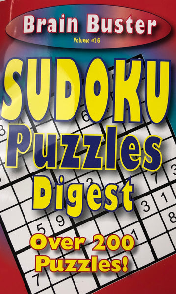 BRAIN BUSTER SUDOKU PUZZLE DIGEST. VOL #16 - Unusual Finds Discount Store