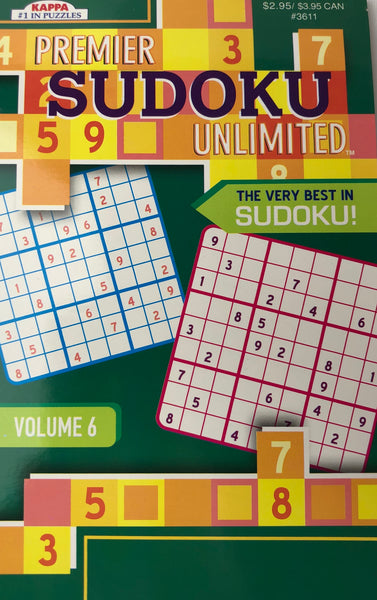 PREMIER SUDOKU UNLIMITED PUZZLE BOOK - Unusual Finds Discount Store