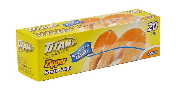 "ZIPPER FREEZER BAGS 7 x 8"" - Unusual Finds Discount Store"