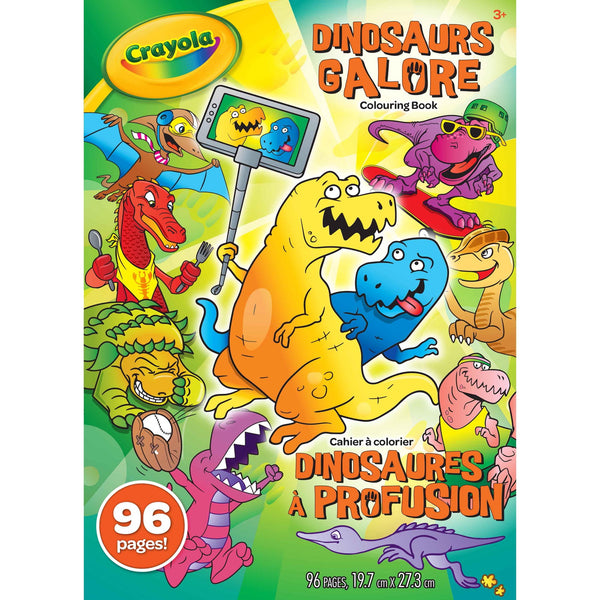 Crayola Colouring Book Dinosaurs Galore 96 pages - Unusual Finds Discount Store