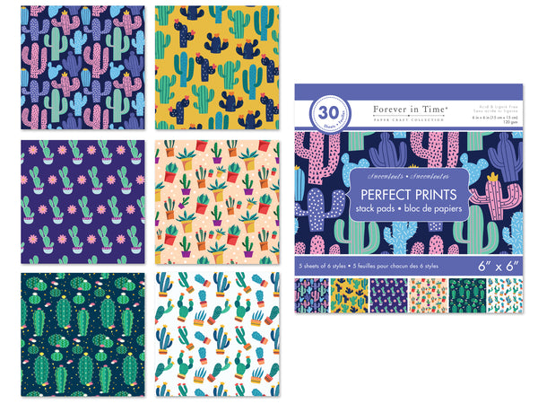 "SUCCULENTS PAPER PADS PERFECT PRINTS 6x6"" - Unusual Finds Discount Store"