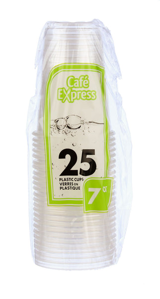 25 PLASTIC CUPS 7oz - Unusual Finds Discount Store