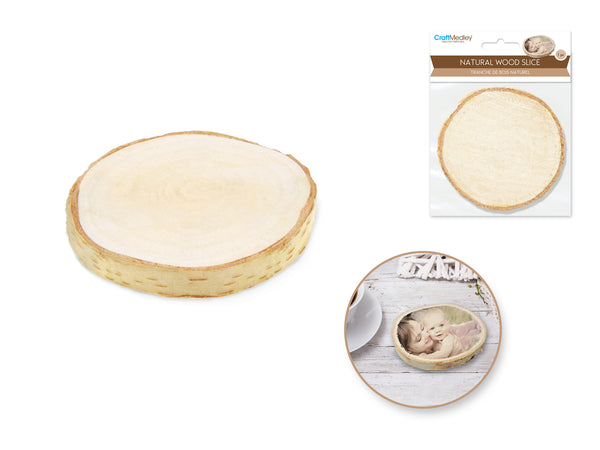 NATURAL BIRCH WOOD SLICES 1pc 9cm - Unusual Finds Discount Store