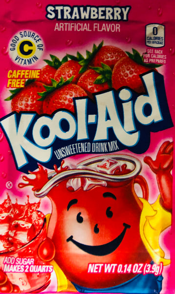 KOOL-AID STRAWBERRY SINGLE PACKET - Unusual Finds Discount Store