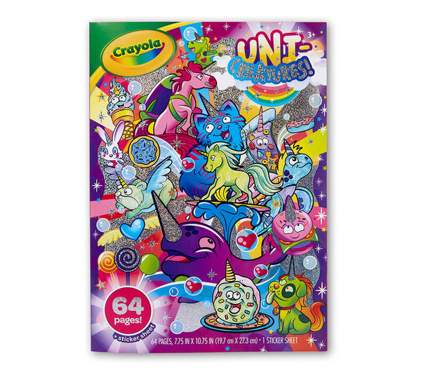 Crayola Colouring Book Uni-creature 96 pages - Unusual Finds Discount Store