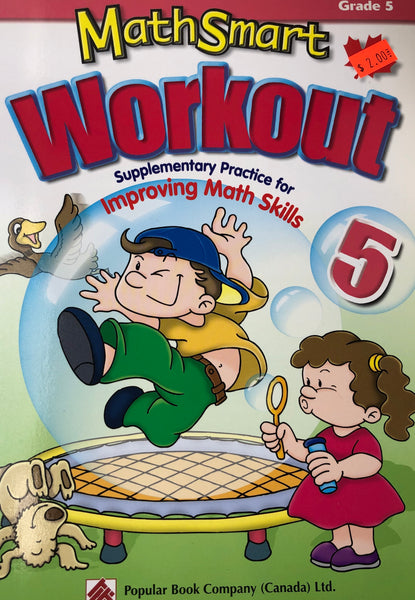 MATH SMART WORKOUT WORKBOOK GRADE 5 - Unusual Finds Discount Store
