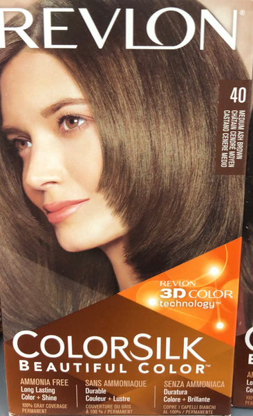 REVLON COLORSILK PERMANENT HAIR DYE 40 MEDIUM ASH BROWN - Unusual Finds Discount Store