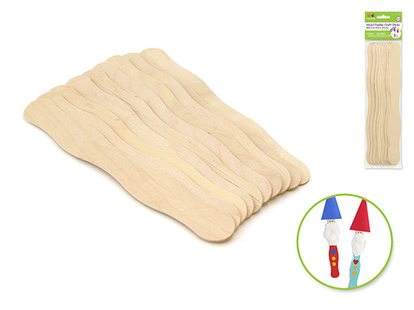 JUMBO WOOD PADDLE CRAFT STICKS 10pc - Unusual Finds Discount Store