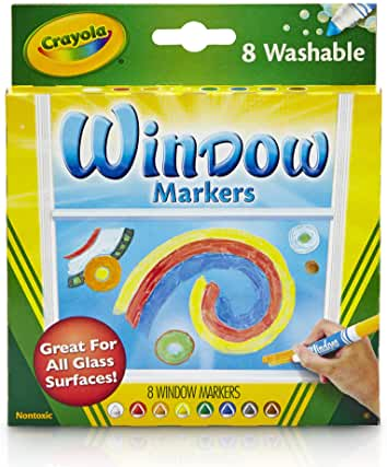 WINDOW WRITERS WASHABLE CRAYOLA MARKERS 10pk - Unusual Finds Discount Store