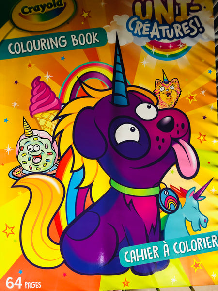 Crayola Colouring Book Uni-Creatures - Unusual Finds Discount Store