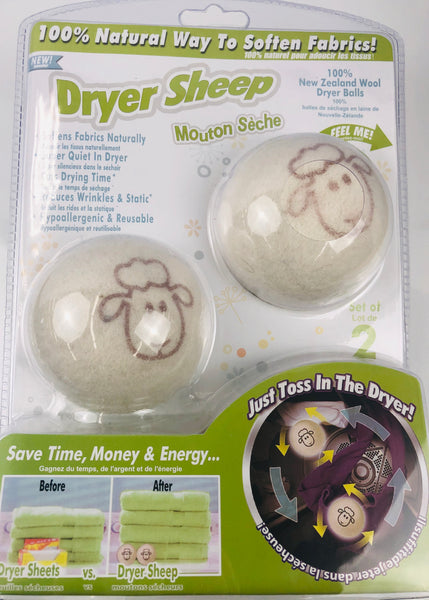 DRYER SHEEP BALLS NEW ZEALAND WOOL - Unusual Finds Discount Store