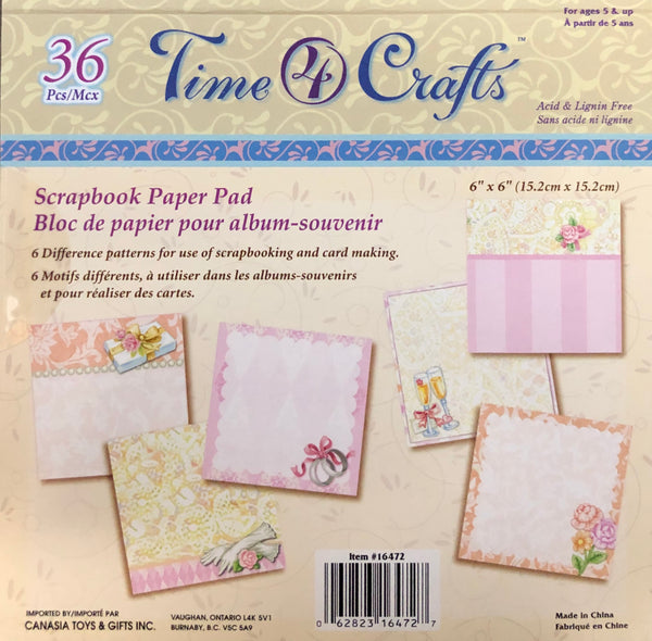 "WEDDING PAPER PADS PERFECT PRINTS 6x6"" - Unusual Finds Discount Store"