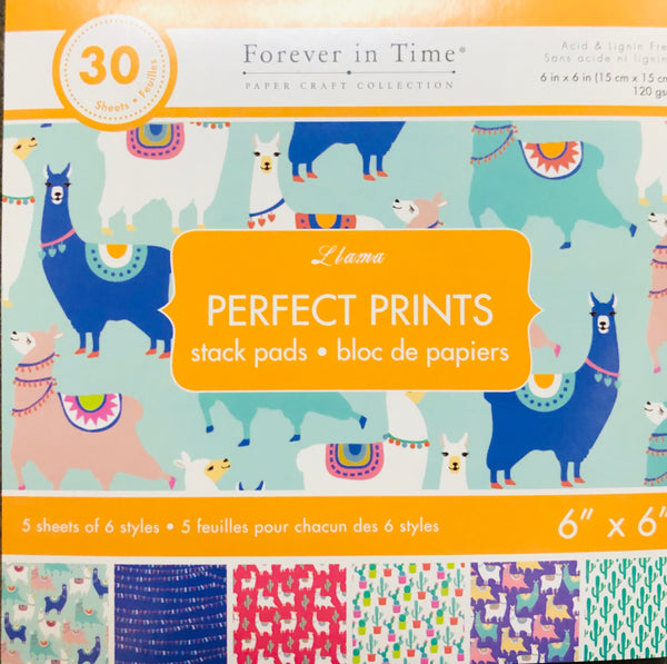 "LLAMA PAPER PADS PERFECT PRINTS 6x6"" - Unusual Finds Discount Store"