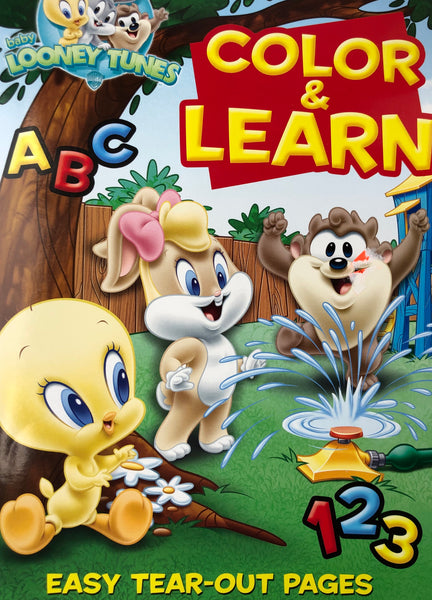 COLOR AND LEARN 123 LOONEY TUNES COLORING BOOK - Unusual Finds Discount Store