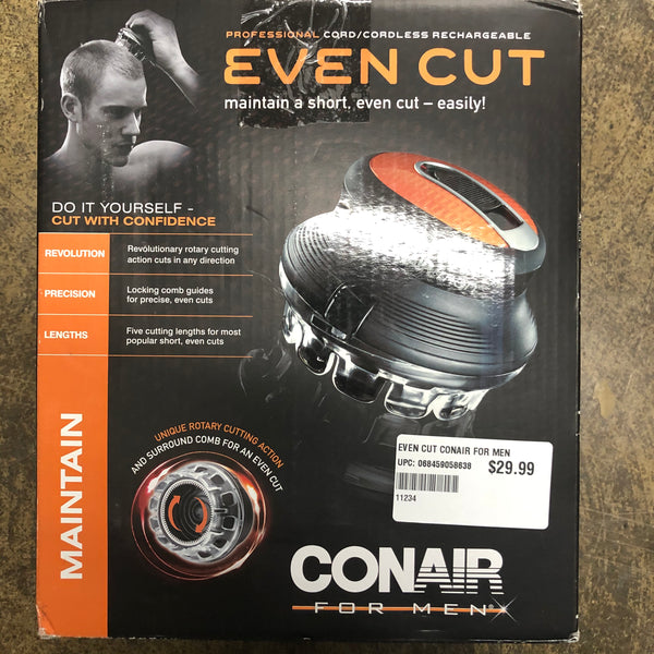 CONAIR PROFESSIONAL CORD/CORDLESS RECHARGEABLE EVEN CUT FOR MEN - Unusual Finds Discount Store