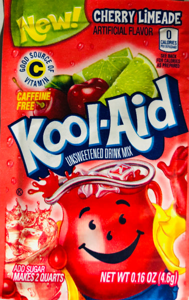 KOOL-AID CHERRY LIMEADE SINGLE PACKET - Unusual Finds Discount Store
