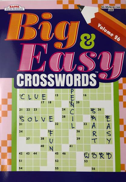 BIG AND EASY CROSSWORD PUZZLE BOOK. VOLUME 26 - Unusual Finds Discount Store
