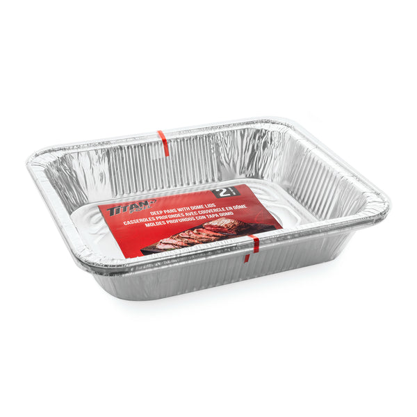 DEEP ALUMINUM PANS WITH DOME LIDS - Unusual Finds Discount Store