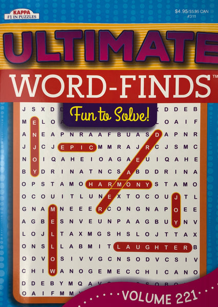 ULTIMATE WORD FIND BOOK. VOLUME 221 - Unusual Finds Discount Store
