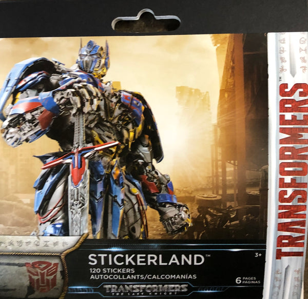 TRANSFORMERS STICKERLAND PAD - Unusual Finds Discount Store