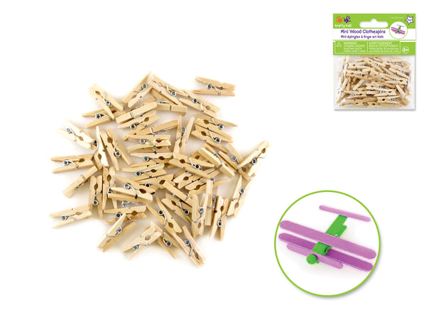 "MINI WOOD CLOTHES PINS 1"" - Unusual Finds Discount Store"