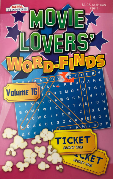 MOVIE LOVERS WORD FIND PUZZLE BOOKS. VOL #16 - Unusual Finds Discount Store