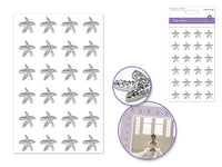 STARFISH GEM STICKERS SILVER - Unusual Finds Discount Store