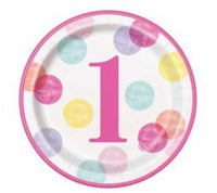 Baby's First Birthday Pink TABLEWARE - Unusual Finds Discount Store