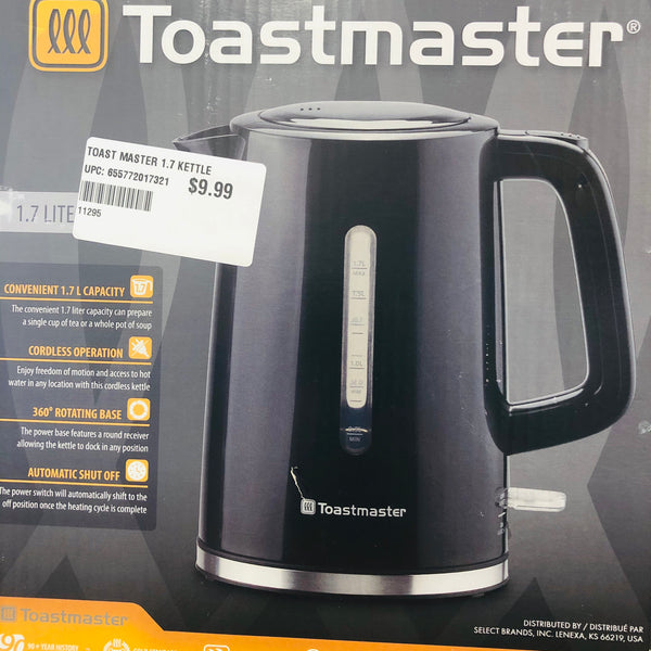 TOASTMASTER KETTLE 1.7 L - Unusual Finds Discount Store