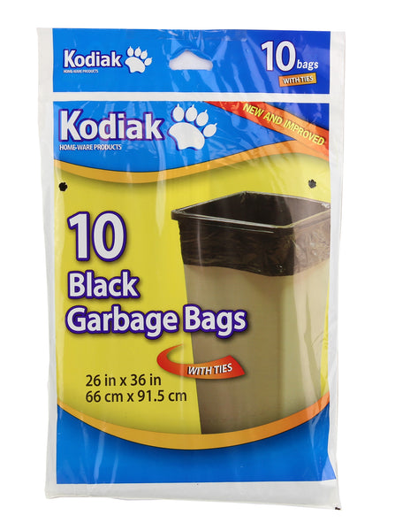 10 BLACK GARBAGE BAGS - Unusual Finds Discount Store