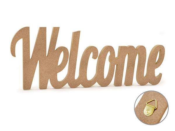 "WOOD WORD DECOR MDF DIY WELCOME 12"" - Unusual Finds Discount Store"