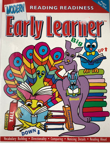 EARLY LEARNER READING REDINESS WORKBOOK - Unusual Finds Discount Store